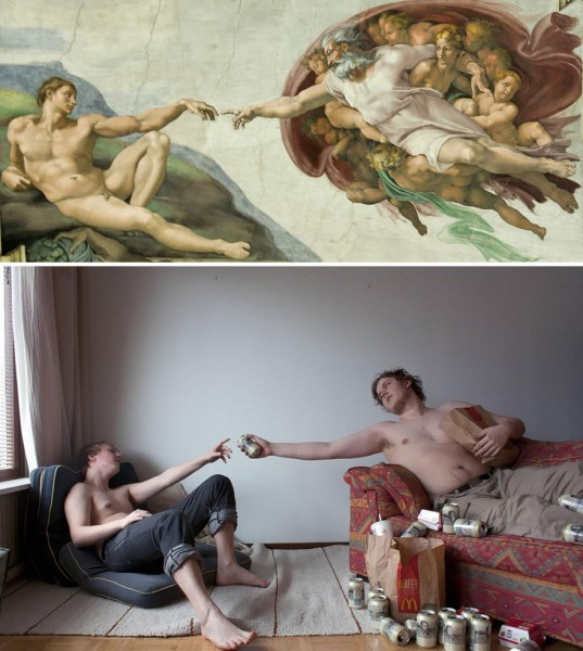 Современные римейки на классические картины