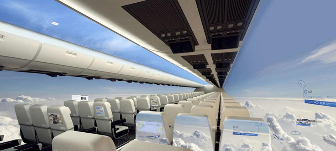 Британские дизайнеры разрабатывают самолет без иллюминаторов