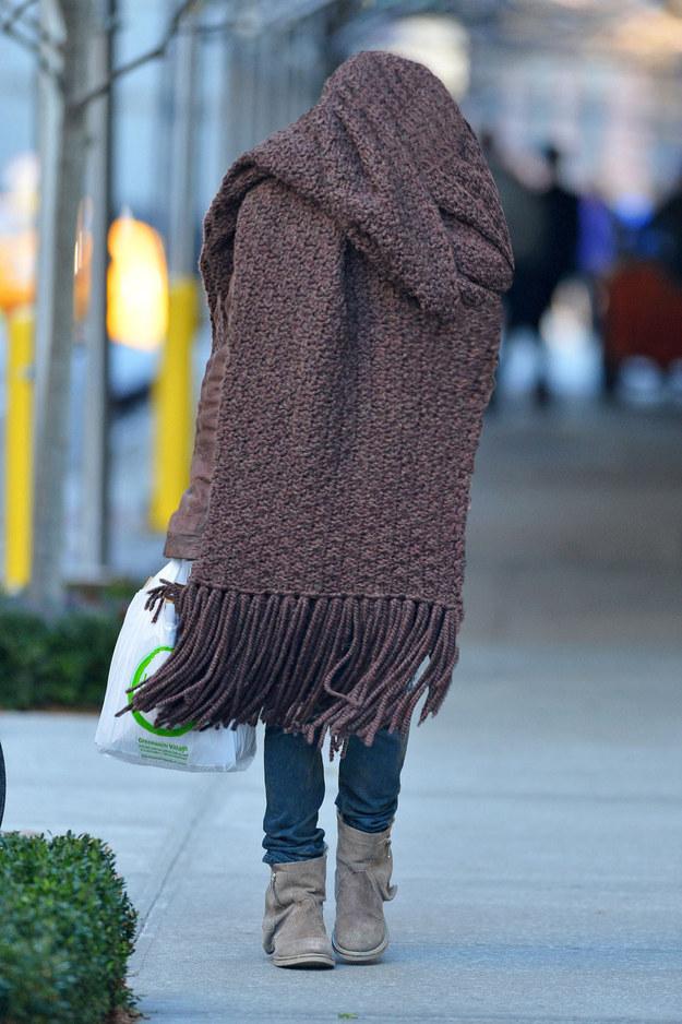 Ленни Кравец и его большой шарф