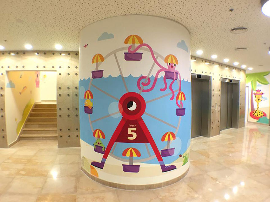 Израильский дизайнер раскрасил стены детской больницы, чтобы сделать детей счастливее