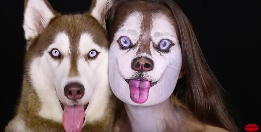 Израильский визажист превратил женщину в собаку