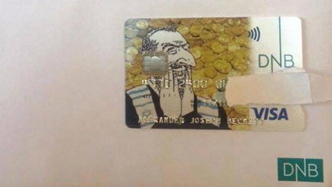 Норвежский банк выпустил карточку с антисемитским рисунком