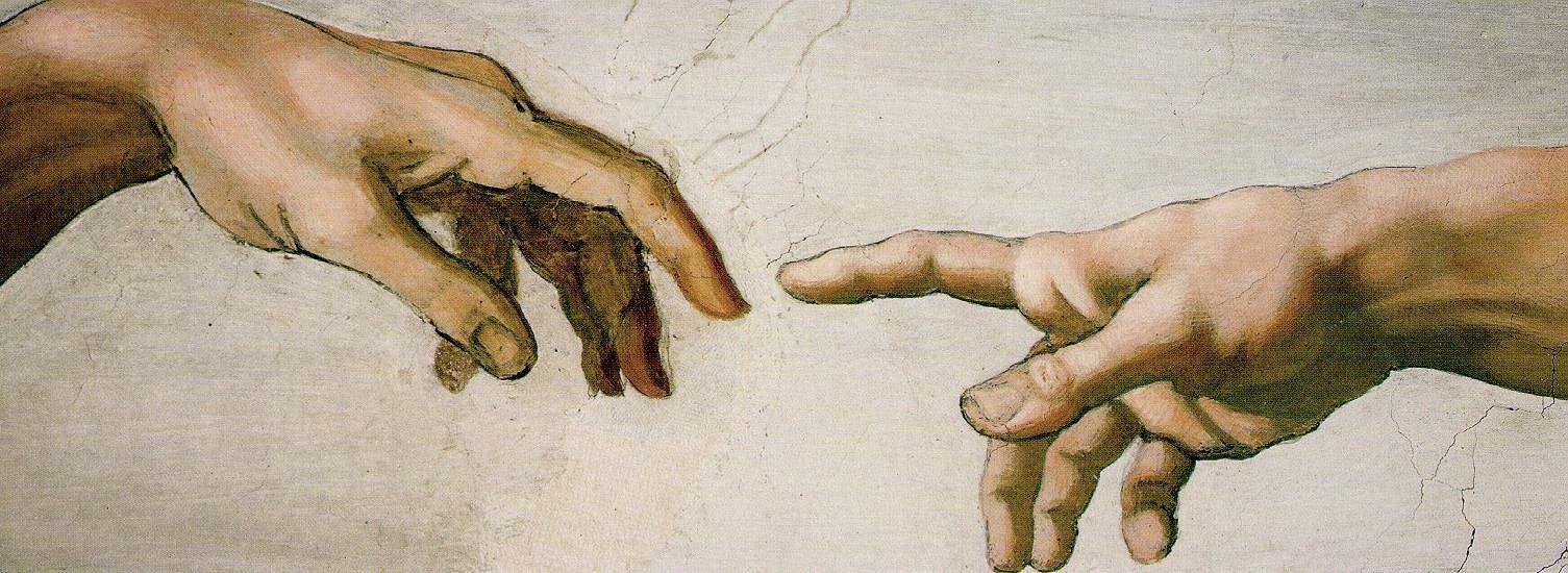 Микеланджело, Сотворение Адама, фреска, Сикстинская капелла, заимствование, цитирование