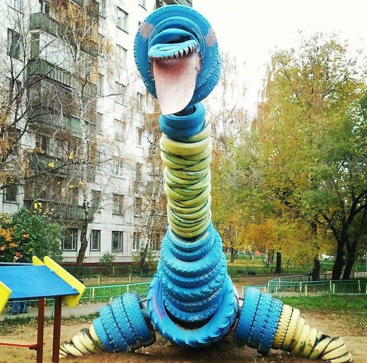 динозавр, детская площадка