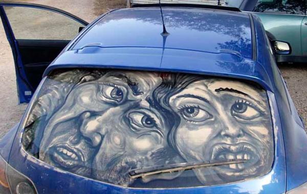 рисунки на машине