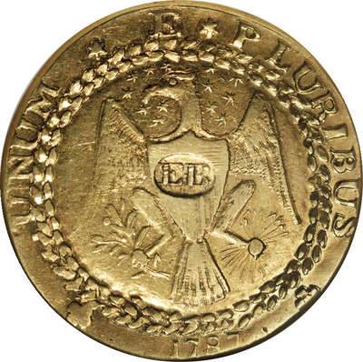 Золотой дублон Брэшера 1787 года