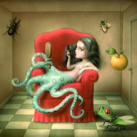 carte-postale-la-pieuvre-nicoletta-ceccoli
