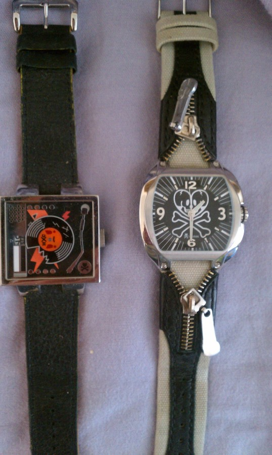 tokidoki watches orange vinyp and zipper