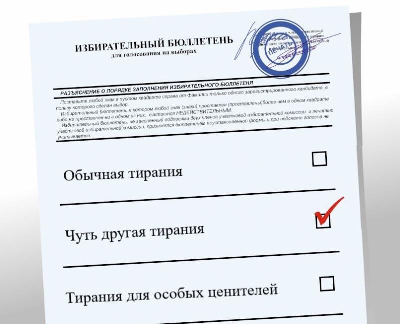 Вот как на самом деле выглядит ваш избирательный бюллетень