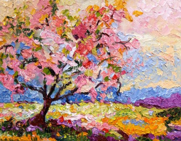 Pink-Blossom-Tree-Oil-Painting-by-Ginette-Callaway_art