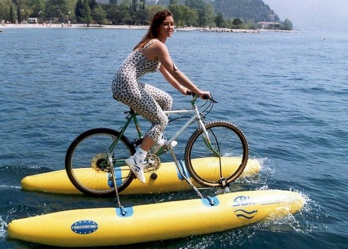 Катамаран из велосипеда своими руками