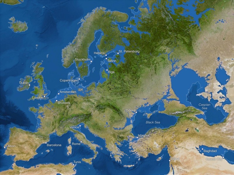 Карта будущего Земли