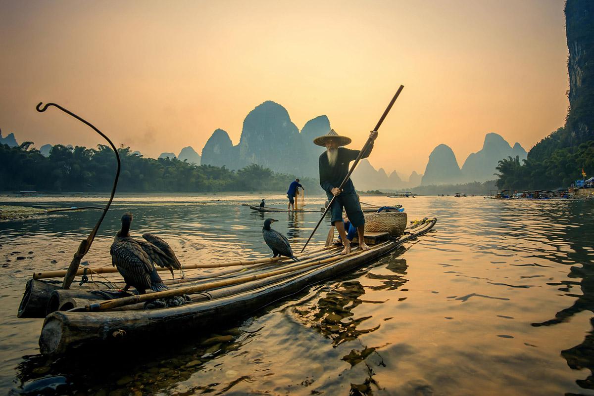 китайские рыбы лодки