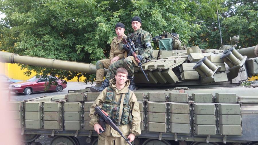 Первые танки ДНР