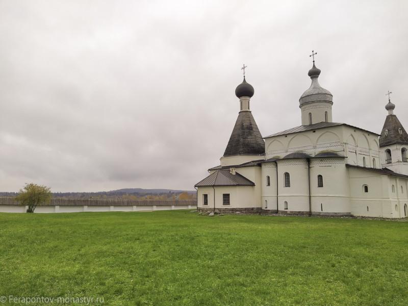 Вид на Цыпину гору с некрополя Ферапонтова монастыря.