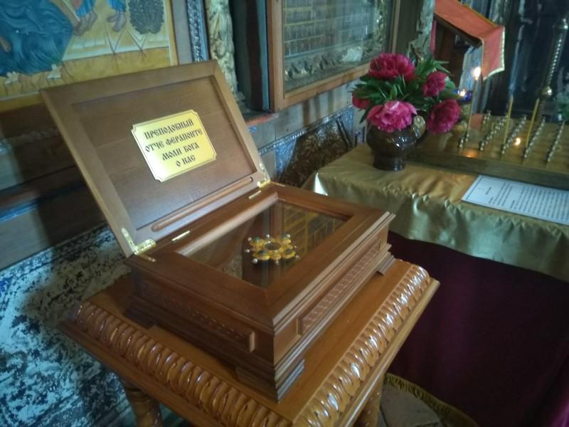 Ковчег с частицей св. мощей прп. Ферапонта Белоезерского - основателя Ферапонтова монастыря.