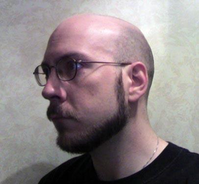 Shaven head 3