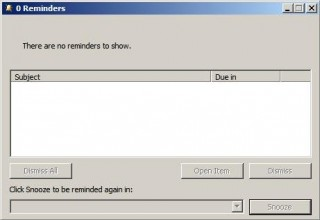 Outlook Sucks -- 0 Reminders