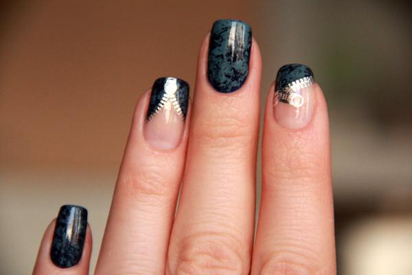 Дизайн ногтей с замочками фото