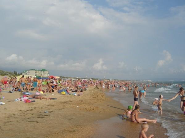 анапа пляж толпа