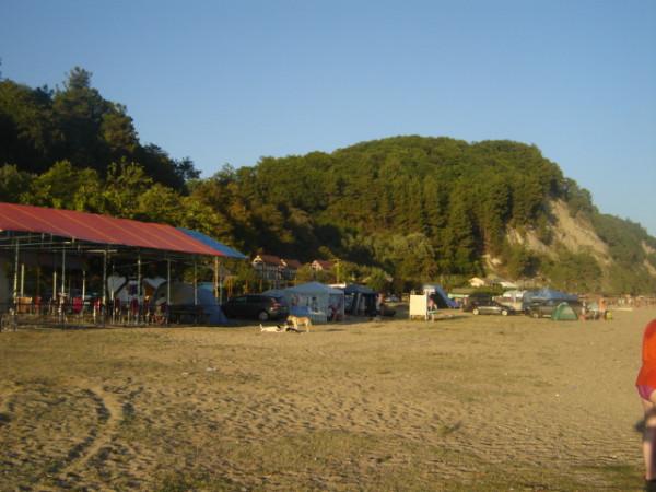 пицунда - восток - пляж - кемпинг