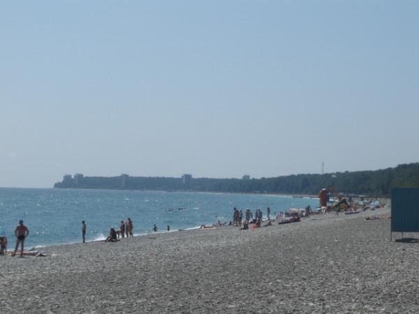 пицунда - пляж
