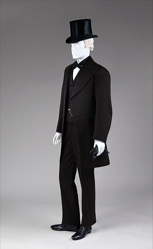 Мужской костюм 1860-х гг.