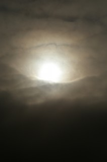 The sun through the clouds