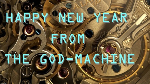 happy new year from the god-machine