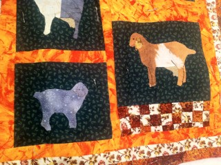 Goat wallhanging detail 2