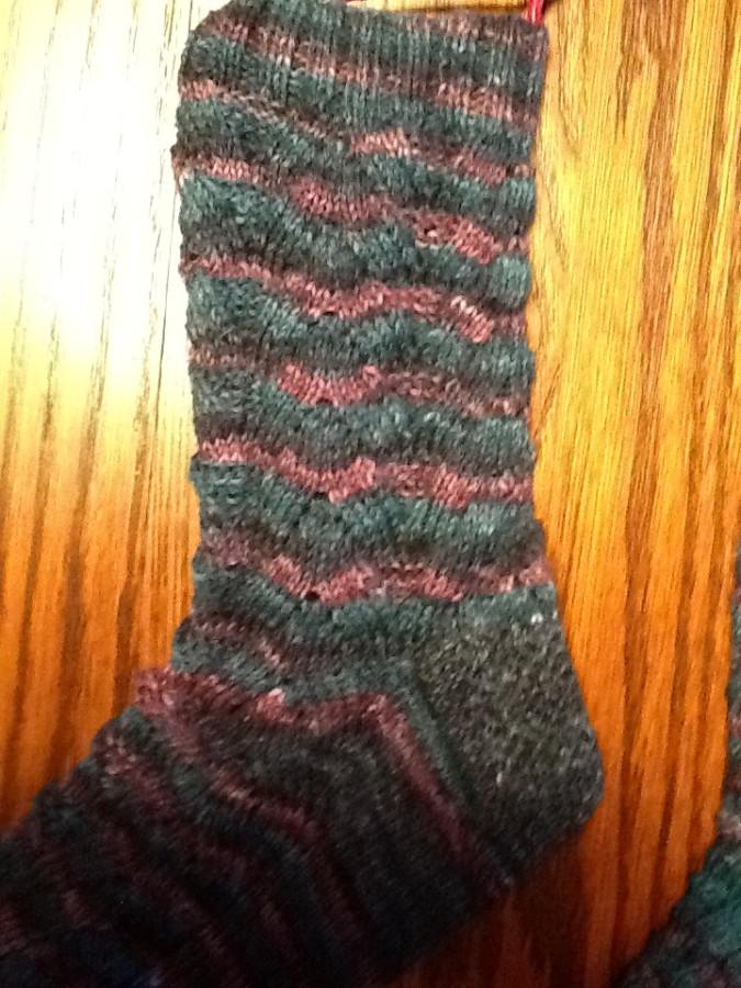 Sock closeup