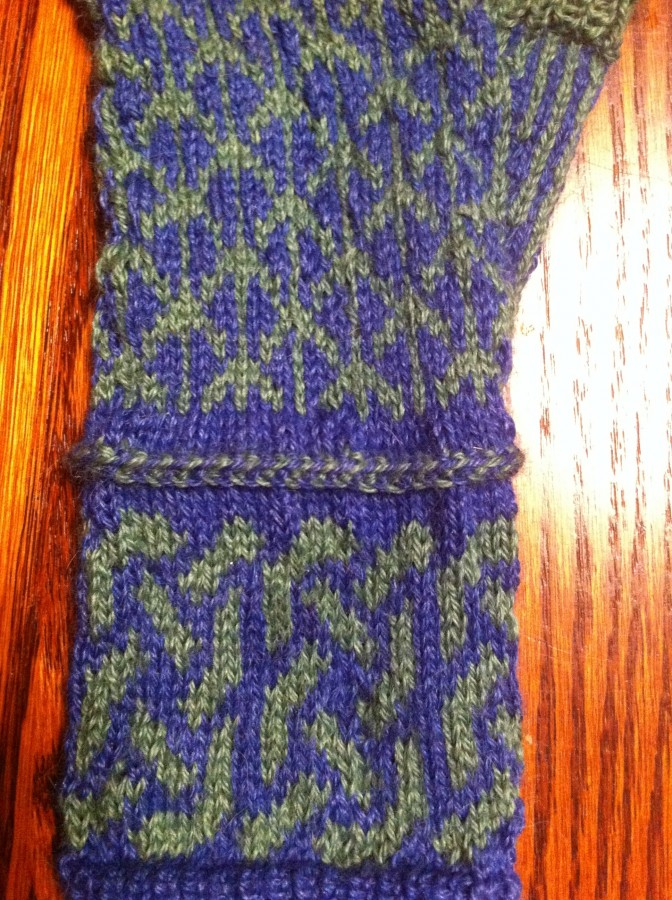 fingerless mitts closeup