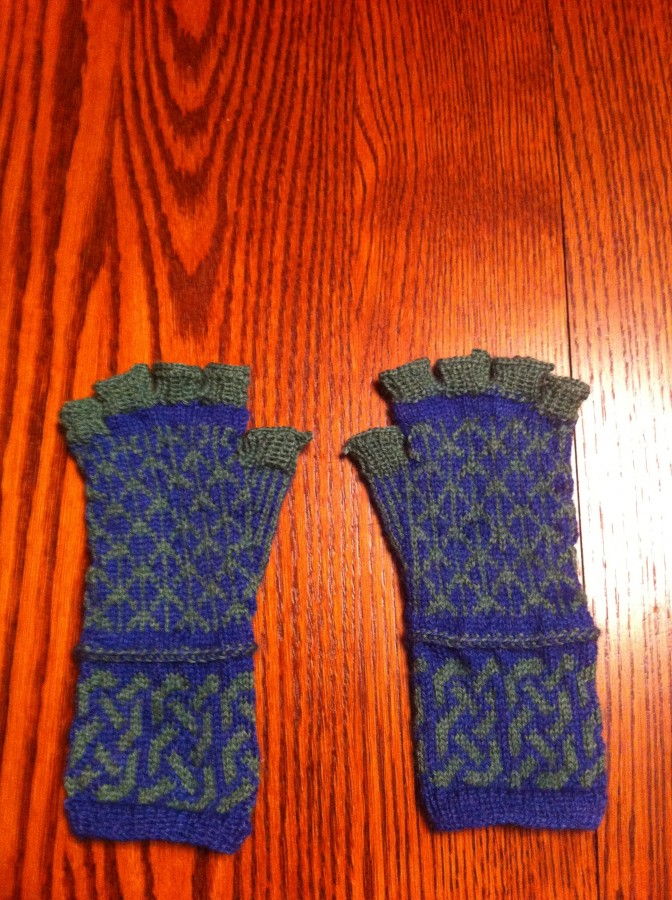 fingerless mitts pair