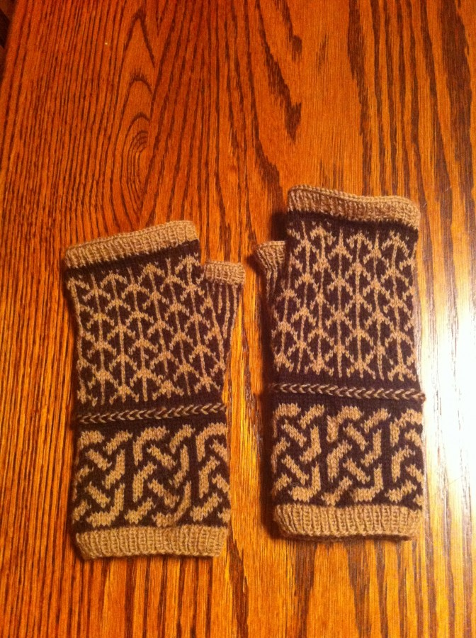 brown black forest mitts