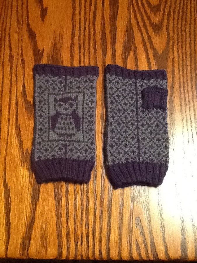 Owl Mitts finished