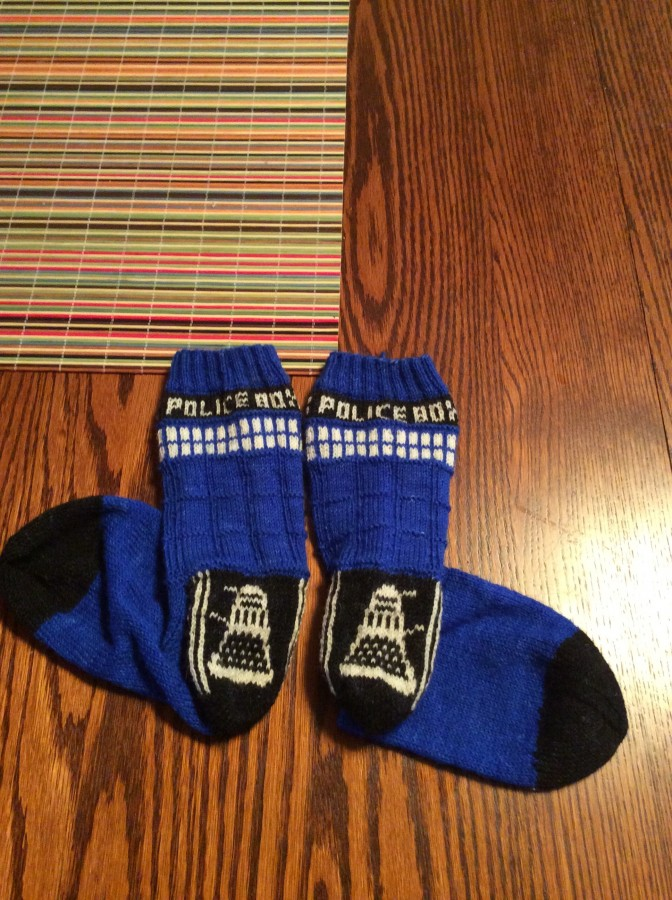 TARDIS socks heels