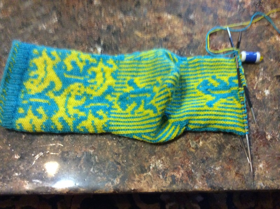 Lizard socks - heel and sole