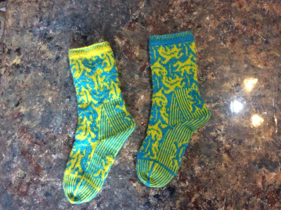 lizard socks left