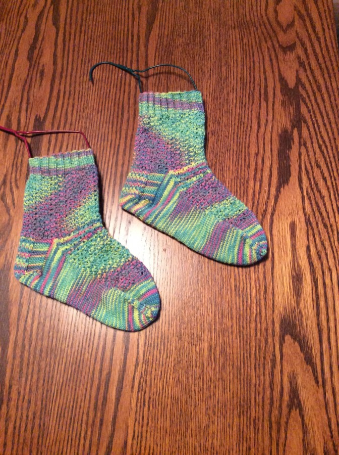 Impressionist socks right