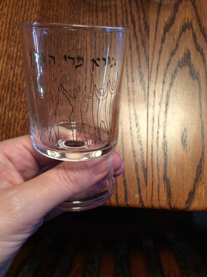 Pesach glasses front