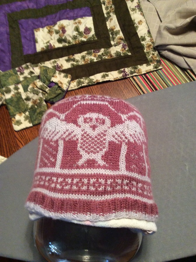 owl hat front