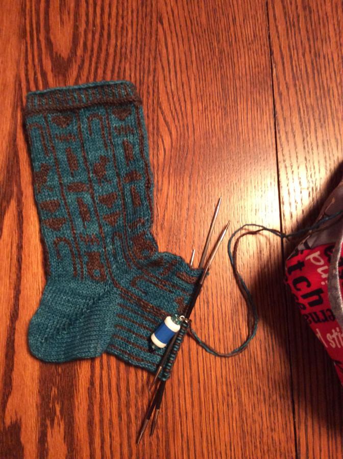 Pharaoh's Socks in Progress