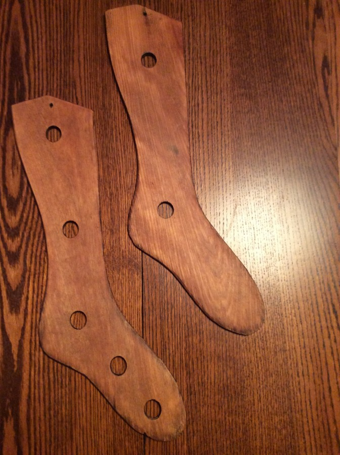 wooden sock blockers