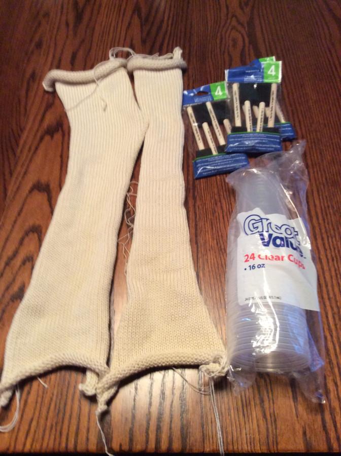 Sock blank predyeing