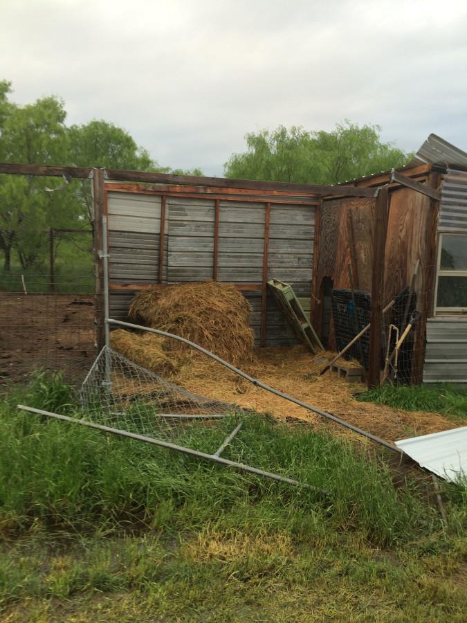 storm - hay barn