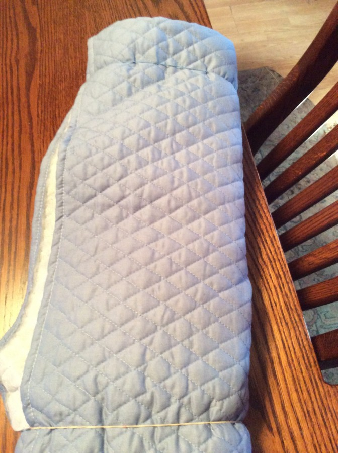 fabric - blue quilted