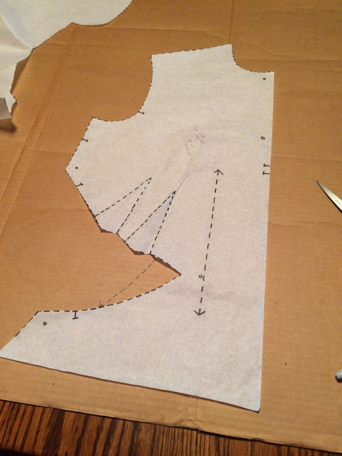 diamond pattern bodice