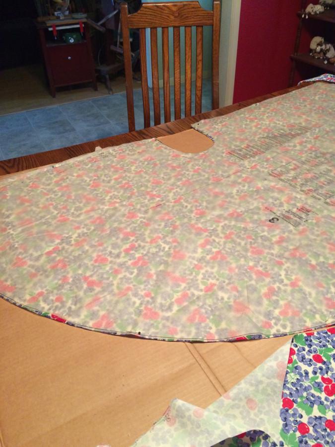 WalkAway fabric cut
