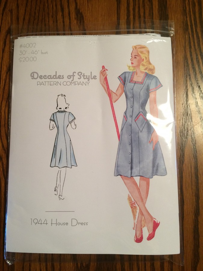 housedress pattern front