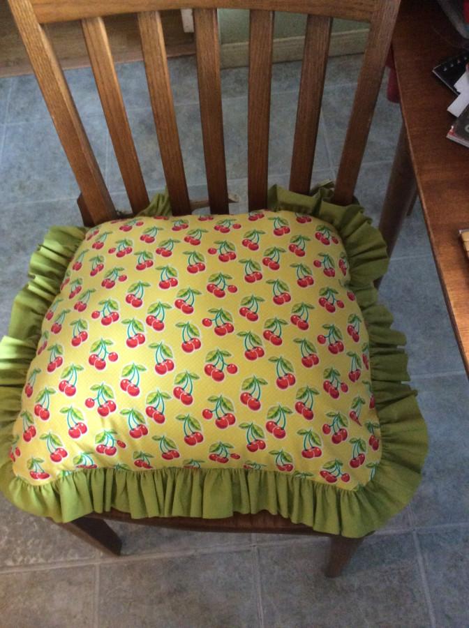 2016 cherries cushion